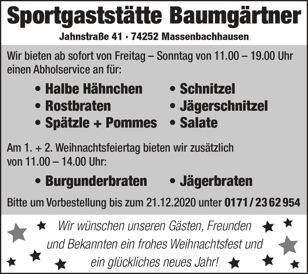 Abholservice in Massenbachhausen   Sportheim